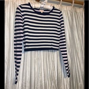 Stripped blue and white crop top